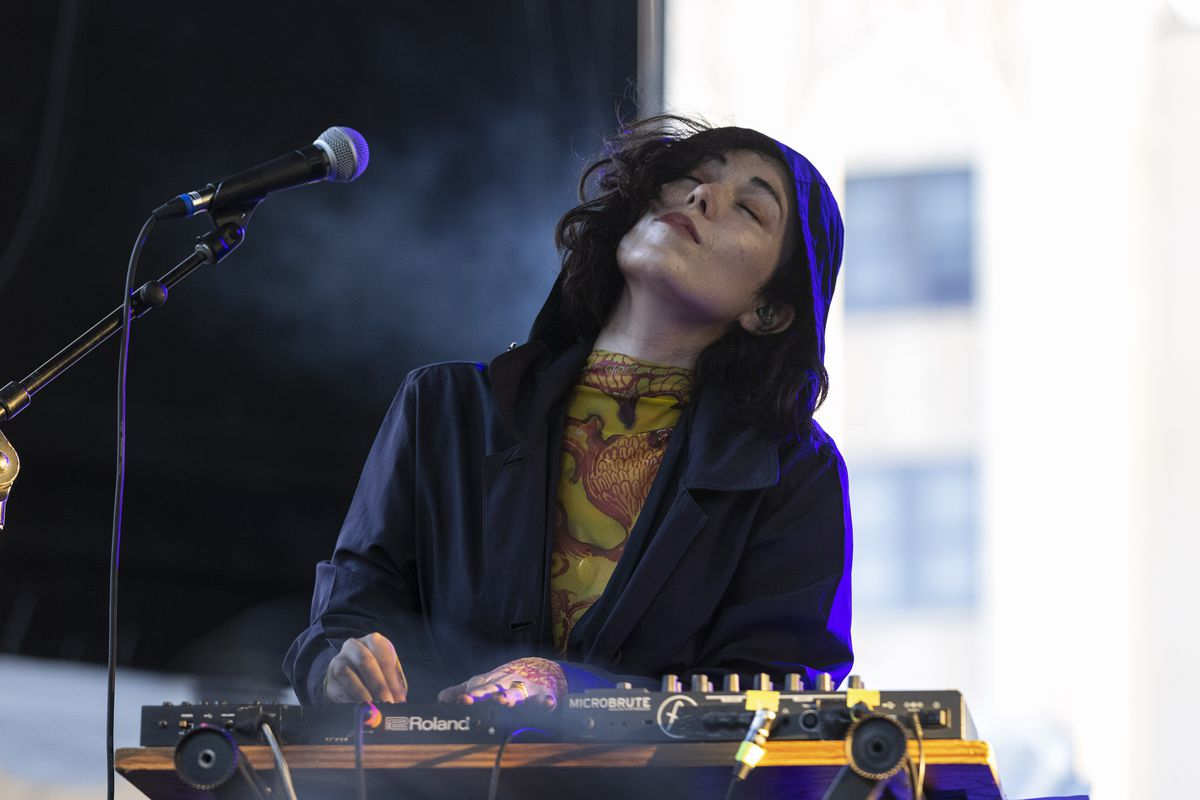 Kelly Lee Owens performs on day one of the Pitchfork Music Festival.