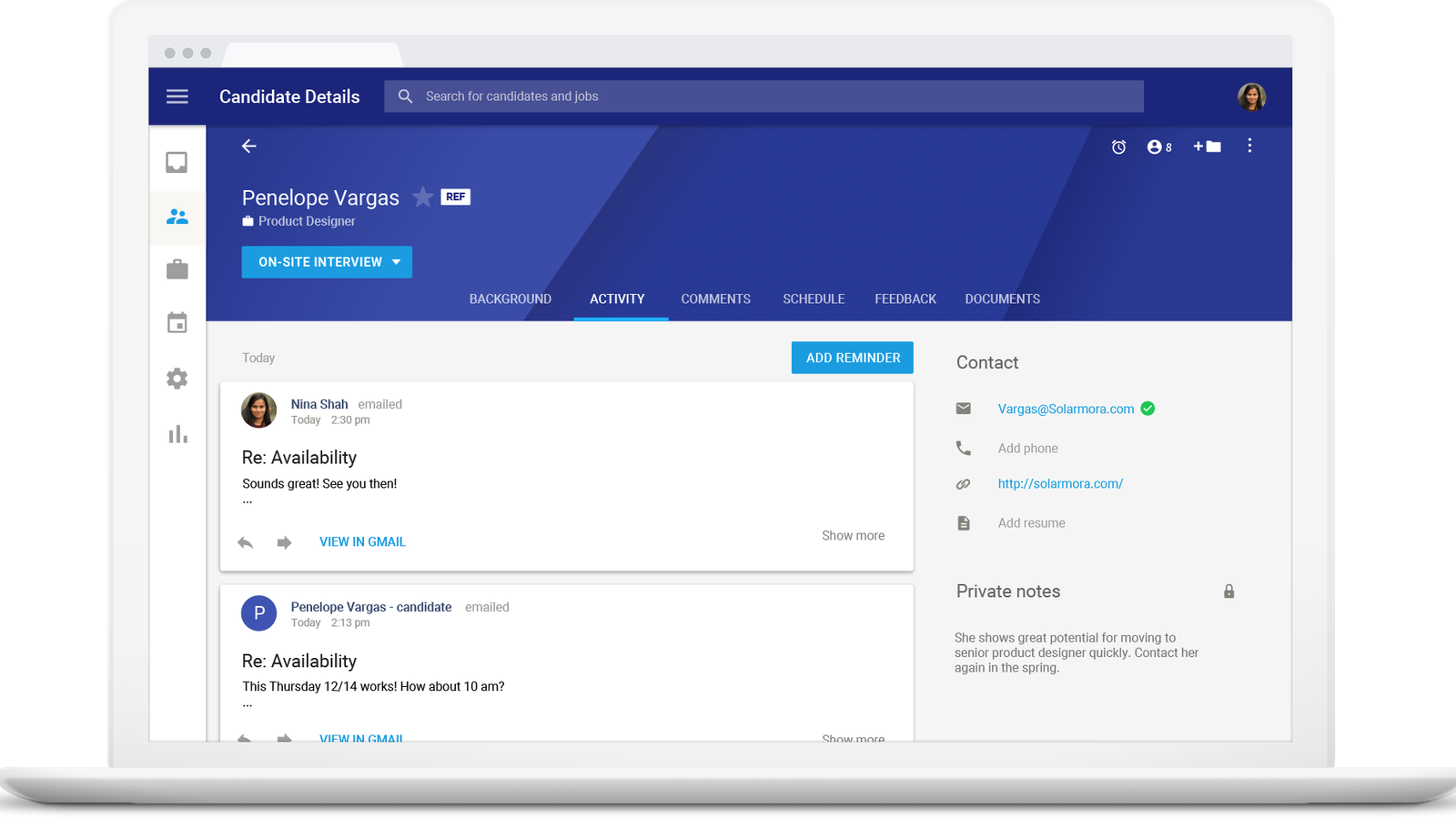 Google Publicly Launches Hire, a Job Applicant Management Tool