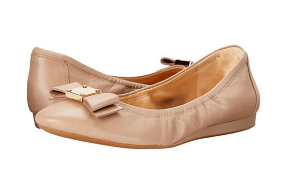 pink ballet flat with bow