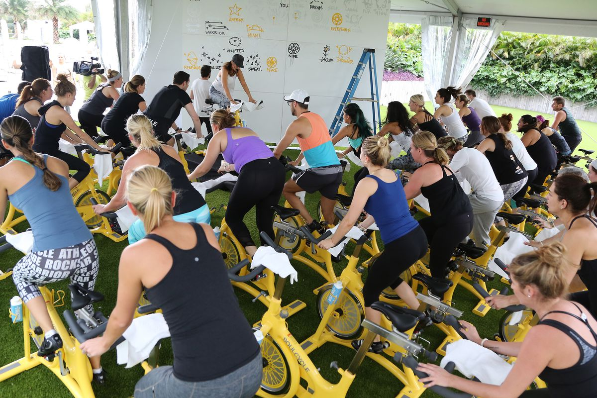 A SoulCycle class in Miami