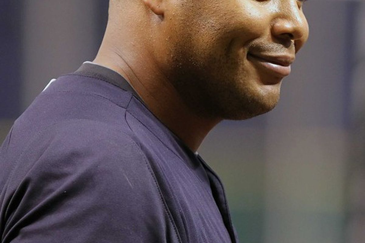 Andruw Jones: After this weekend, he has a reason to look satisfied. (Kim Klement-US PRESSWIRE)