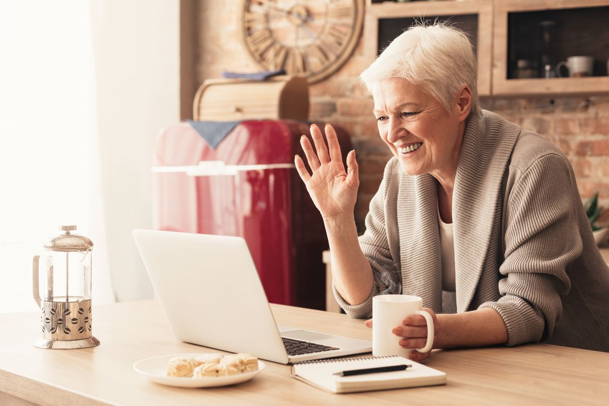"""In addition to """"virtual visits"""" with their families, grandparents are looking for other moments of brightness as they stay at home during the coronavirus pandemic. They're replacing chats on the porch with friends with Facebook conversations, or connecting with church congregations through video-messaging apps like Marco Polo."""