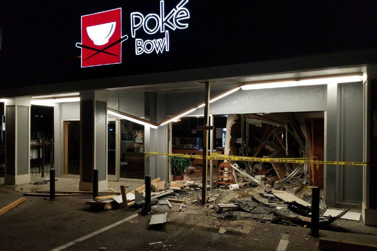 The damage at Poke Bowl