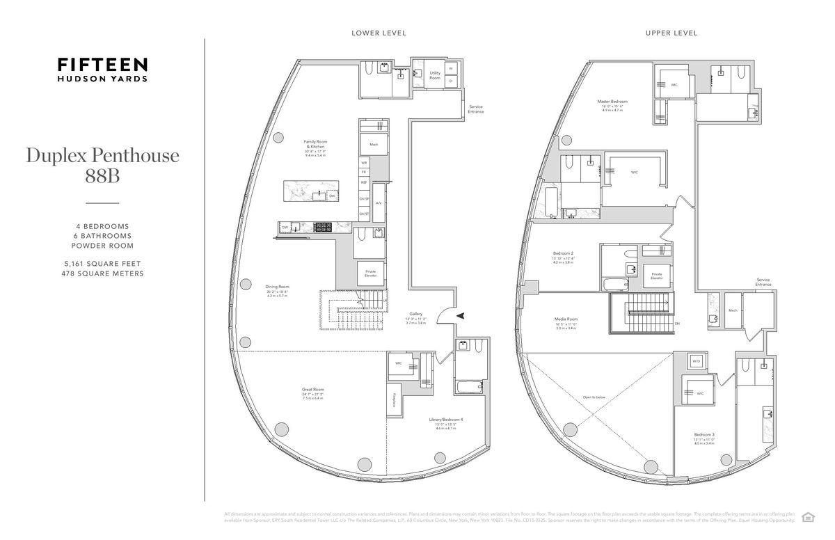 Hudson Yards Real Estate Penthouse At 15 Hudson Yards