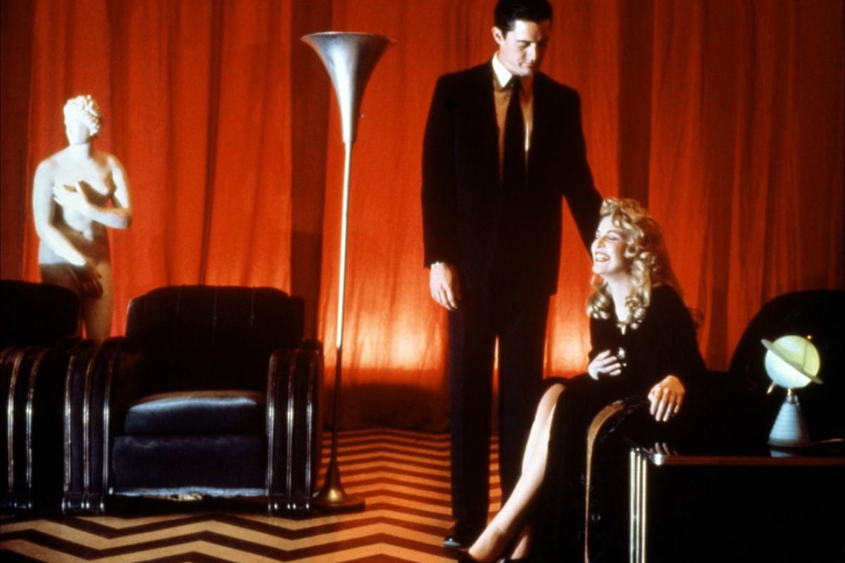 Laura and Dale Cooper in the Red Room from Twin Peaks
