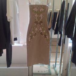 DSquared2 floral appliqué dress: $717