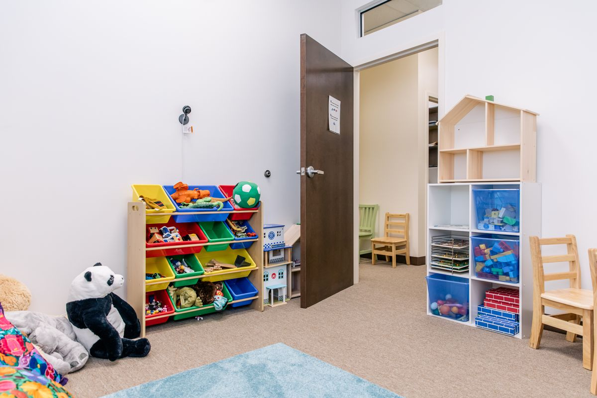 One of five therapy rooms inside the new Little Village clinic.