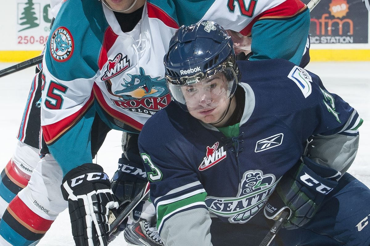 Barzal may not be in a good position in this photo, but in the SBN Mock Draft, he was a top-ten pick.