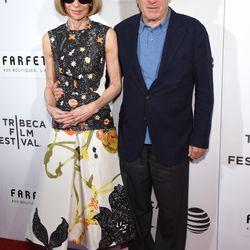 Anna Wintour and Robert De Niro