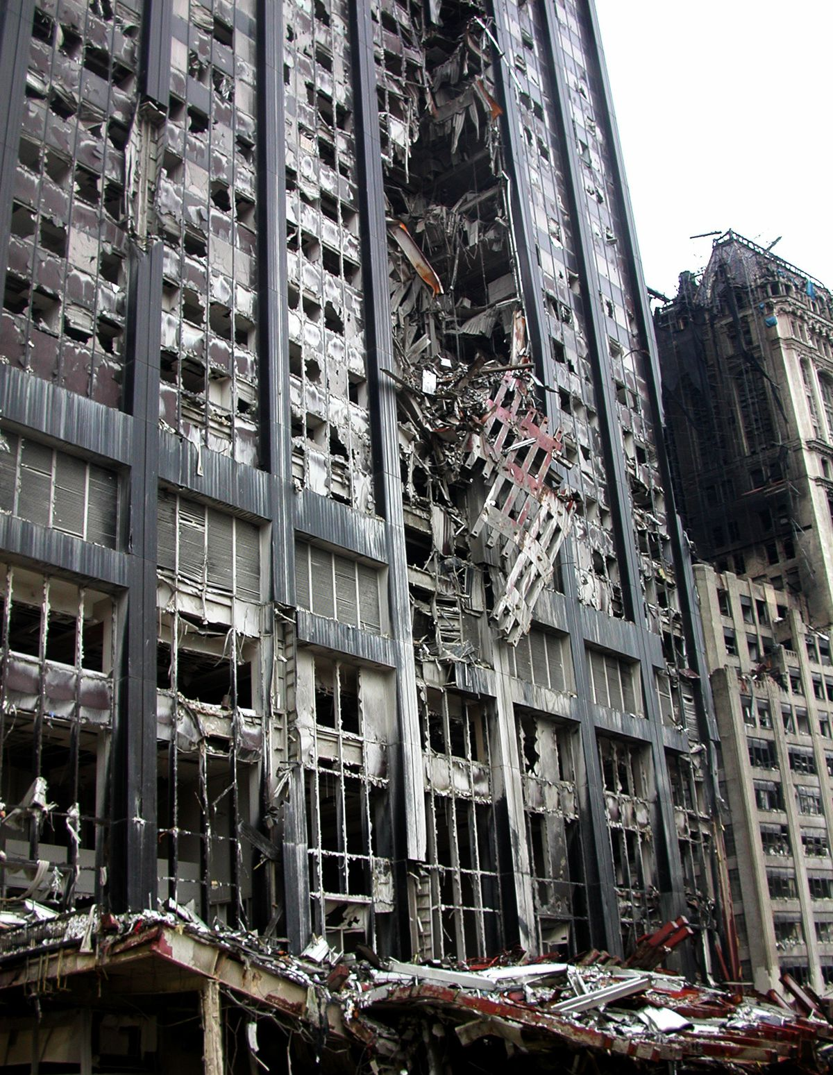 Ruin of a building after 9/11