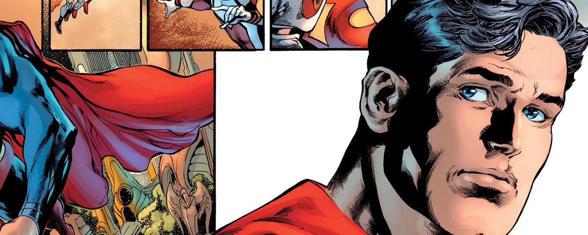 Superman looks contemplative, in Superman #18, DC Comics (2019).