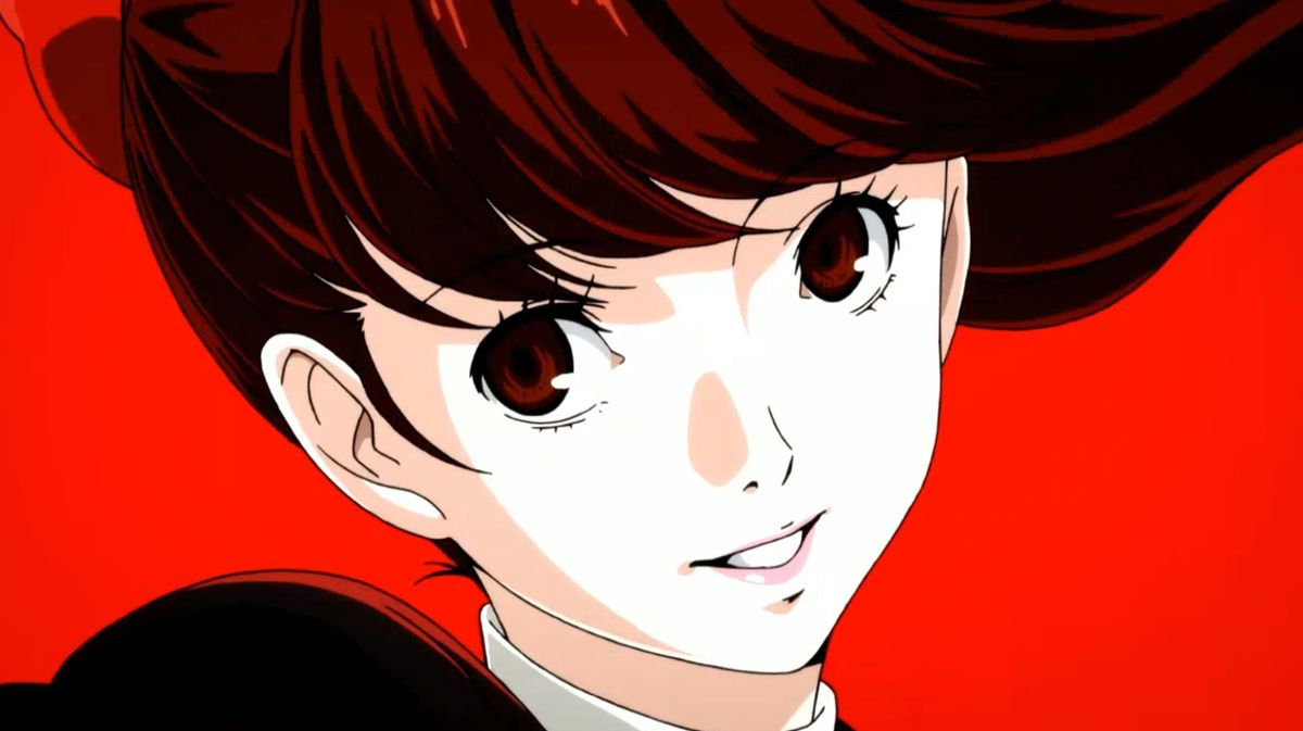 Kasumi during one of Persona 5 Royal's animated sequences