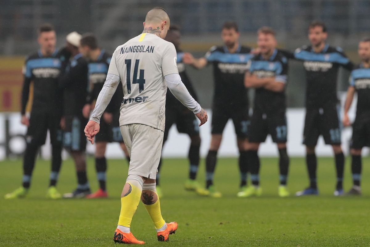 Image result for Photos of Inter vs Lazio in Coppa Italia