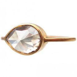 Conroy & Wilcox 18k Rosecut Pear .5 ct diamond ring, $3900