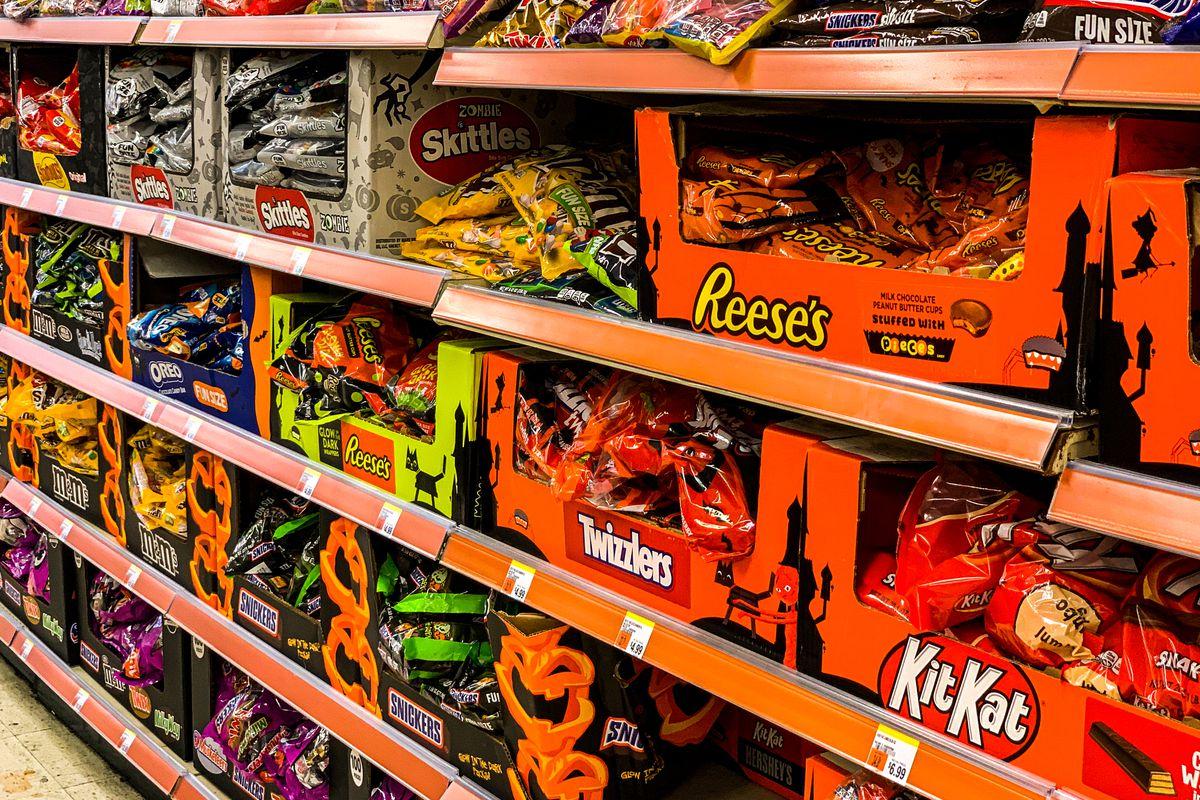 Halloween candy aisle.