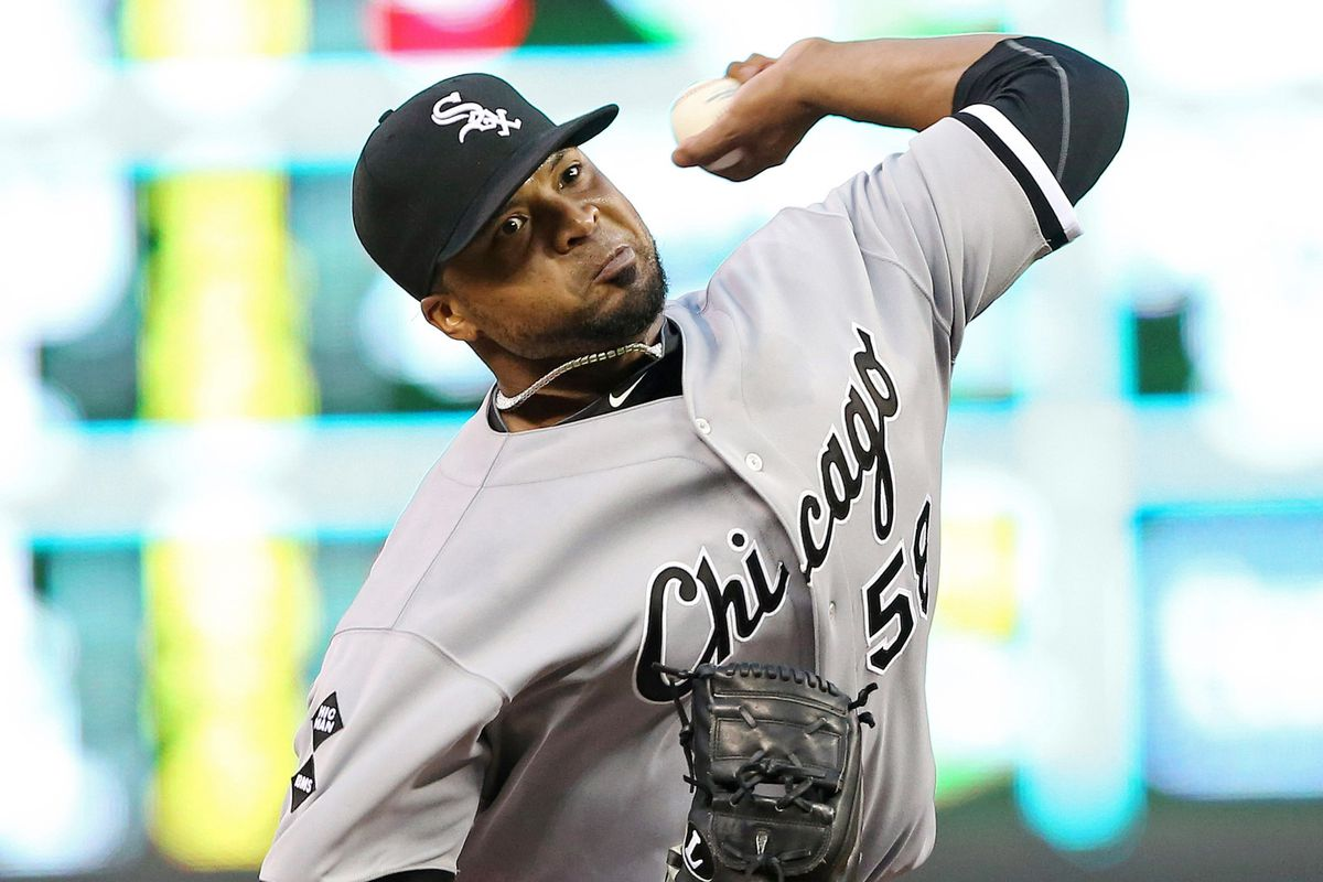 Francisco Liriano sets up on different sides of the pitching rubber depending on the handedness of the batter.