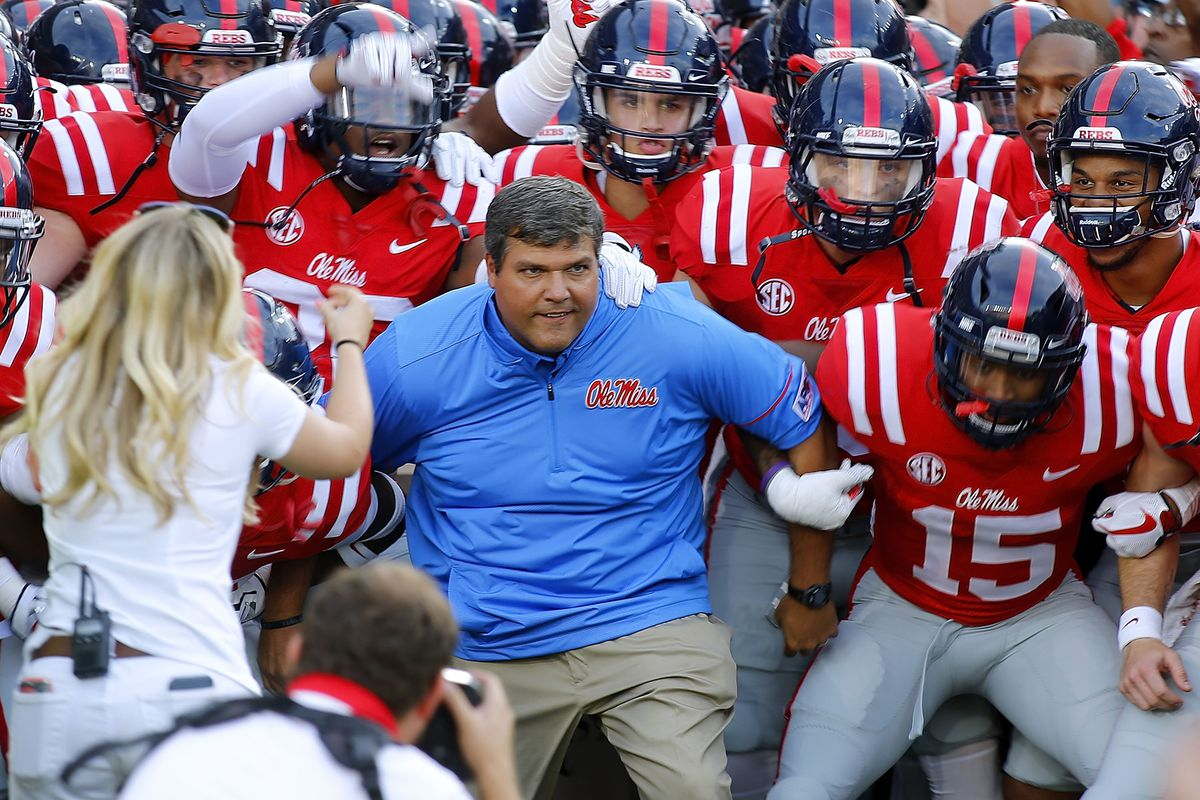 Matt Luke is Ole Miss football's head coach