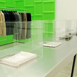 The collection within the Comme des Garcons boutique.