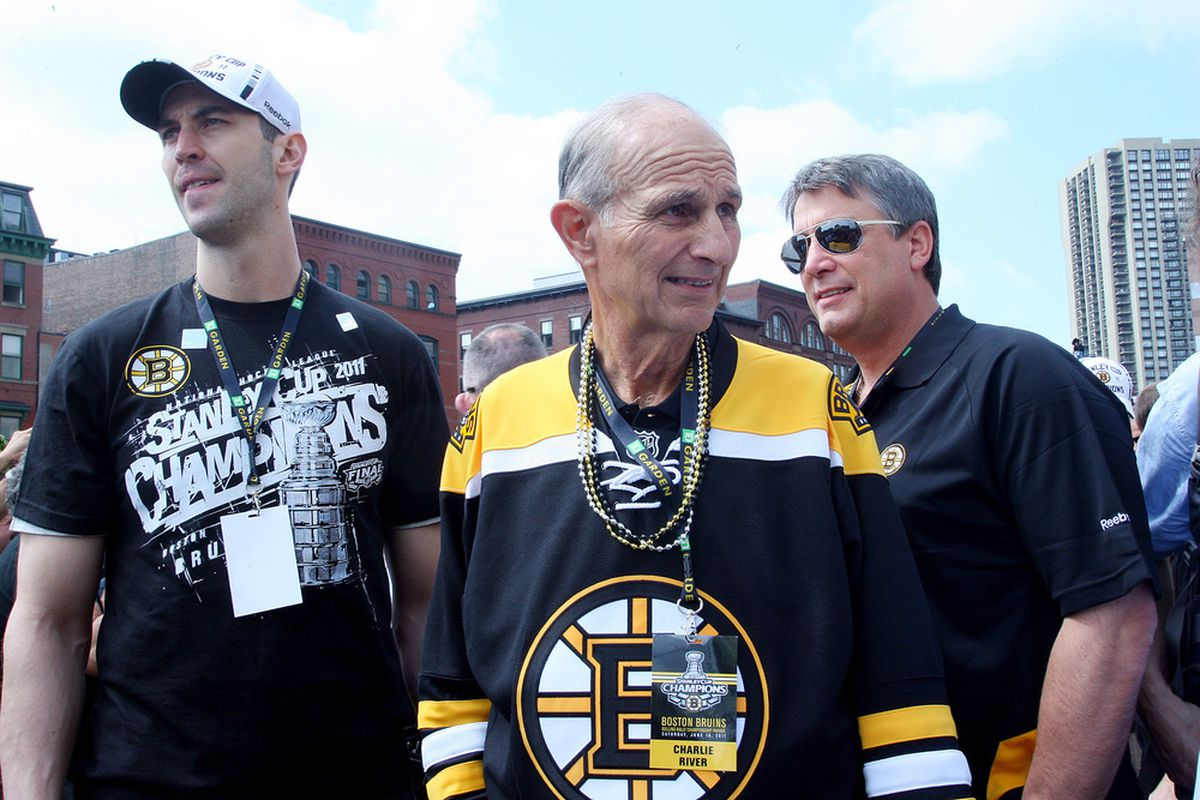 Boston Bruins owner and lockout hawk Jeremy Jacobs, in happier times.