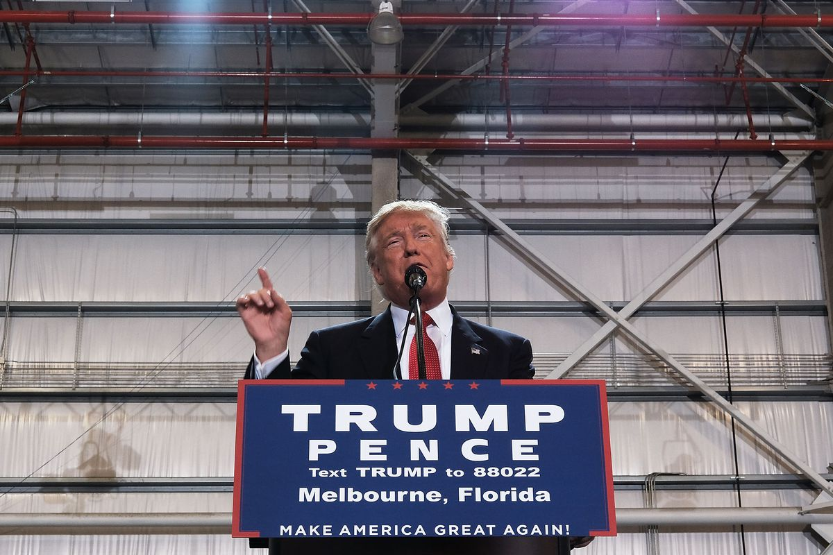 Republican Presidential Candidate Donald Trump Campaigns In Florida Day After First Debate