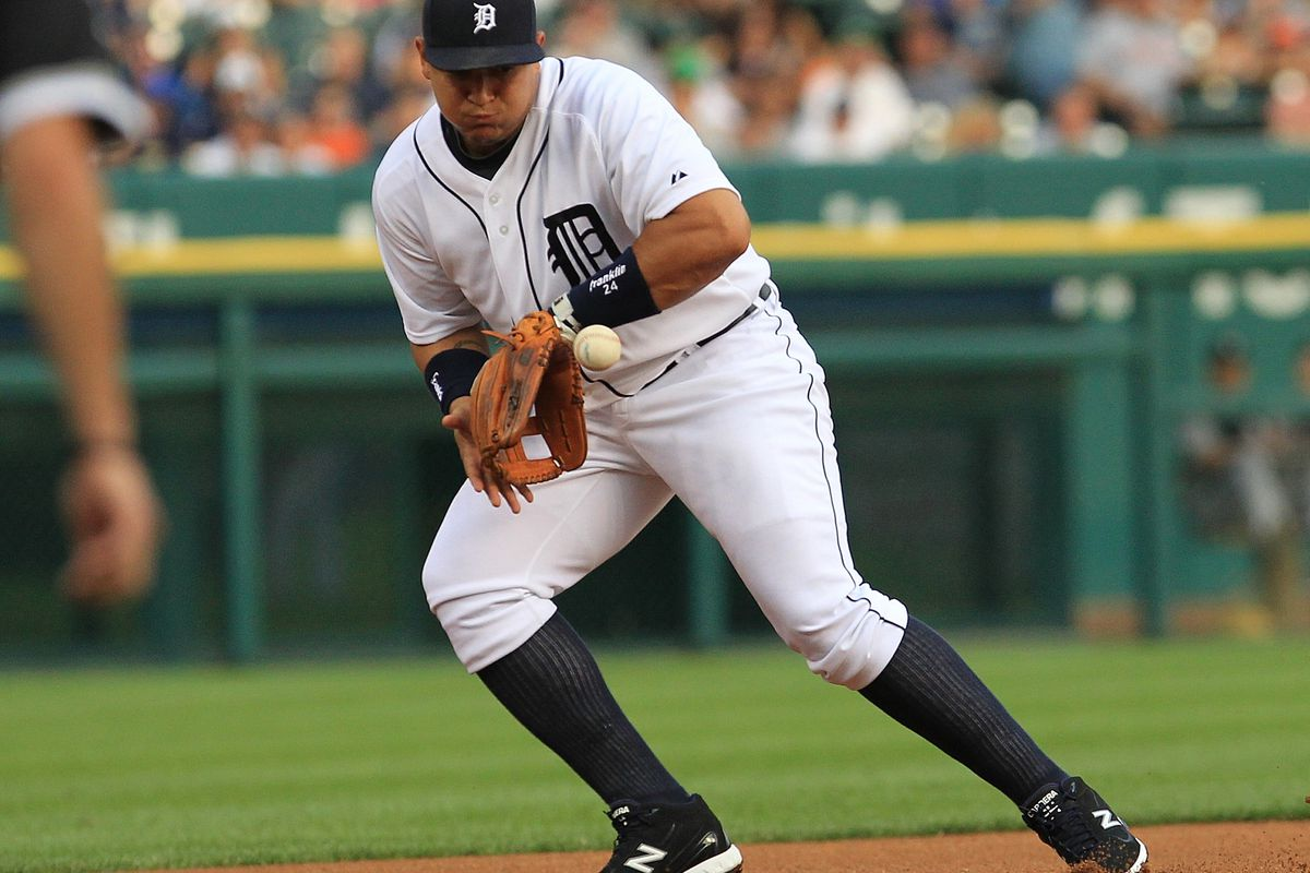 Miguel Cabrera committed two errors on Friday. The Sox only threw one more grounder at him over the final two games.