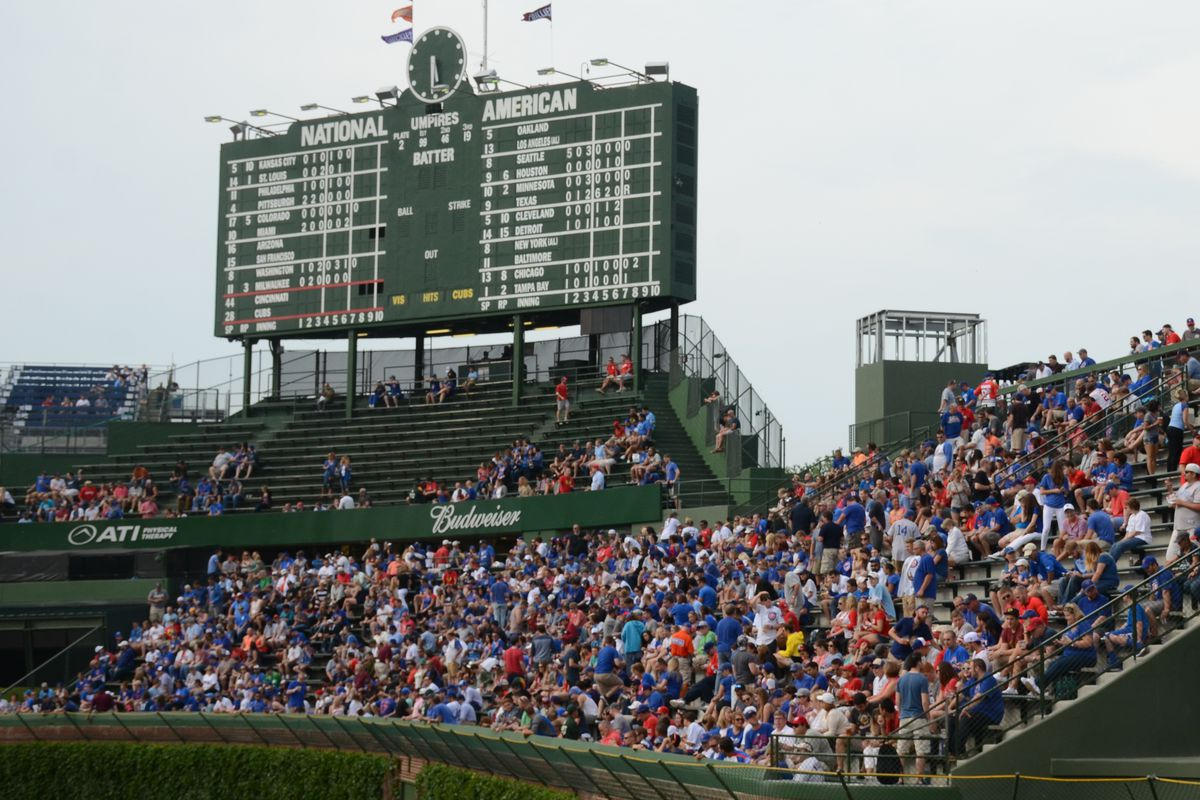 The newly-opened right-field bleachers at Wrigley, as seen Saturday, June 13