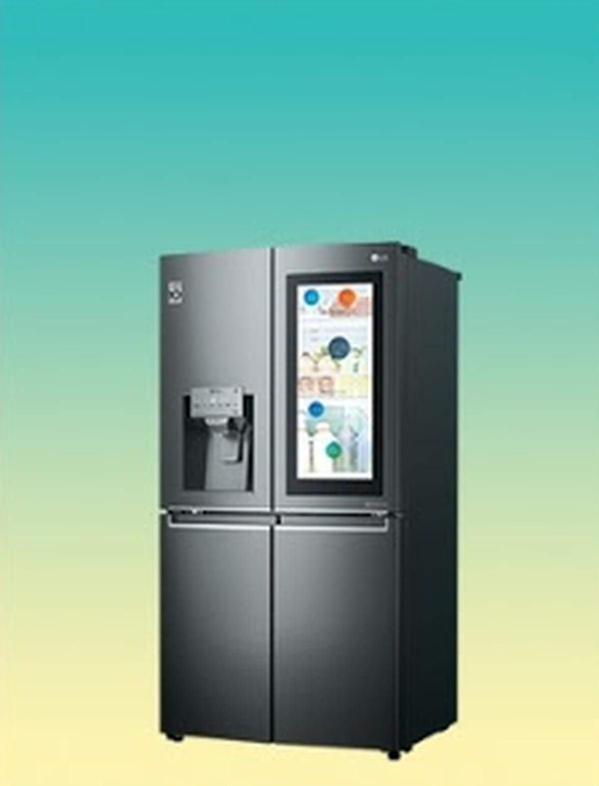 LG\'s new ThinQ smart fridge has a transparent 29-inch touchscreen ...