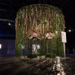 "Artist Maisie Cousins created a piece called ""Erotica in Bloom."" | Erin Brown/Sun-Times"