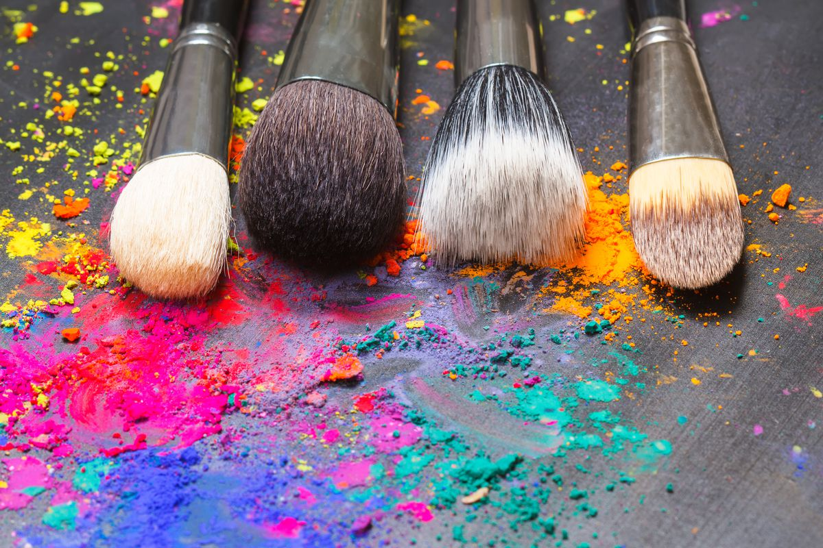 Clean makeup brushes, unlike mine.