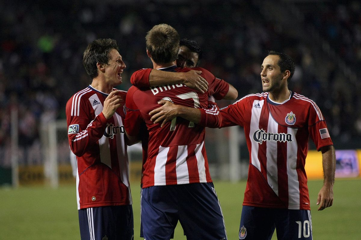 CARSON, CA - SEPTEMBER 24:  Chivas: Go big or go home in 2012, fellas (Photo by Victor Decolongon/Getty Images)