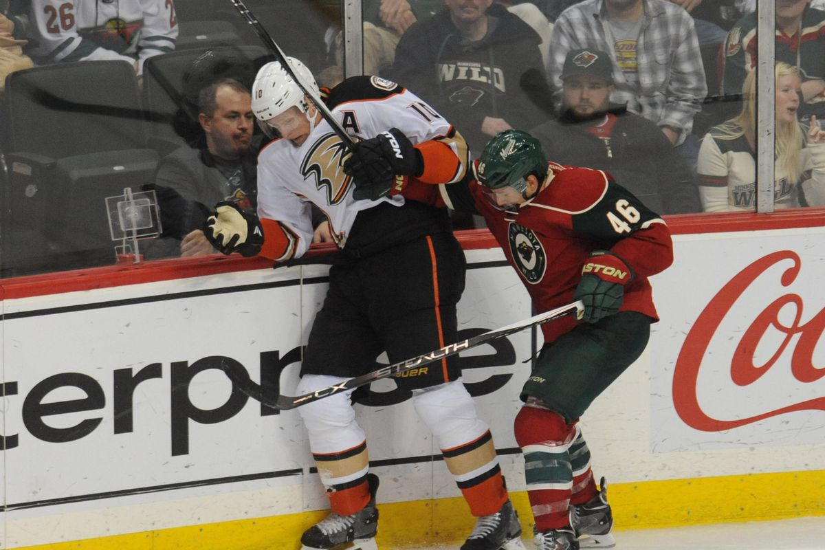 Who doesn't love seeing Jared Spurgeon rough up Corey Perry?