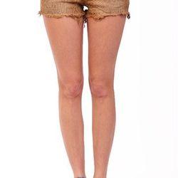 """Brown cut off snake shorts, <a href=""""http://shopblush.com/shop/clothes/BLB01824-black-cut-off-shorts#.Uzz1Ea1dVi4"""">$44</a>"""