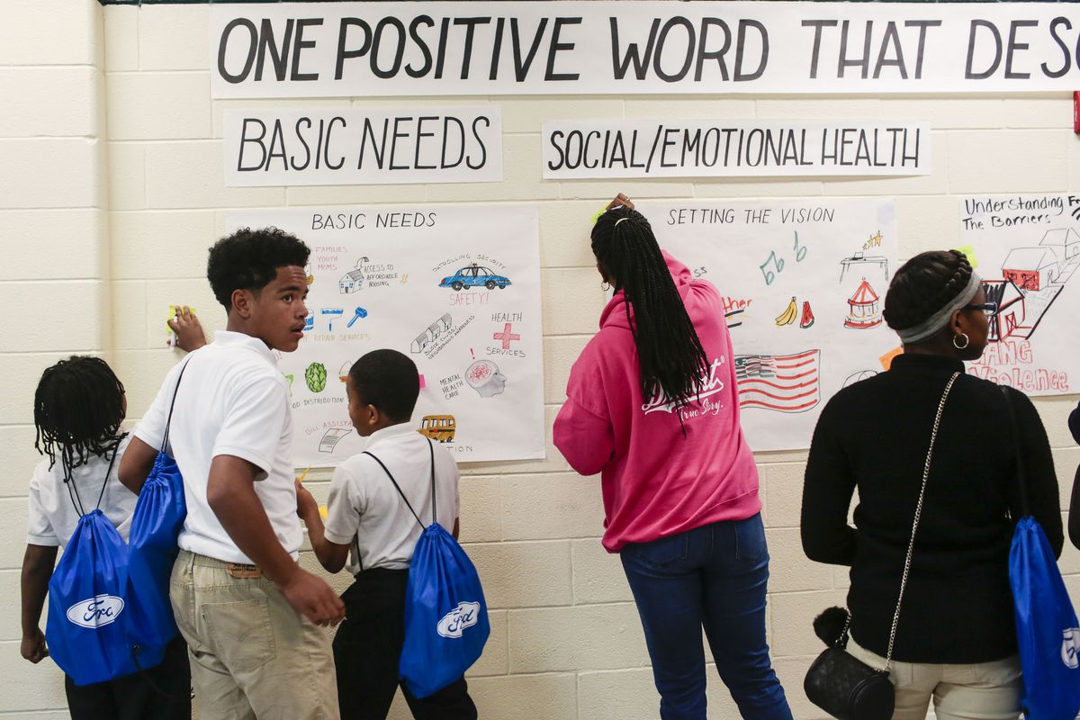 Students at the Fisher Upper Academy have worked with the Ford Fund to determine what will be offered to the community if a $5 million resource center is built in their school but a threatened closure of the Detroit school has thrown plans into question.