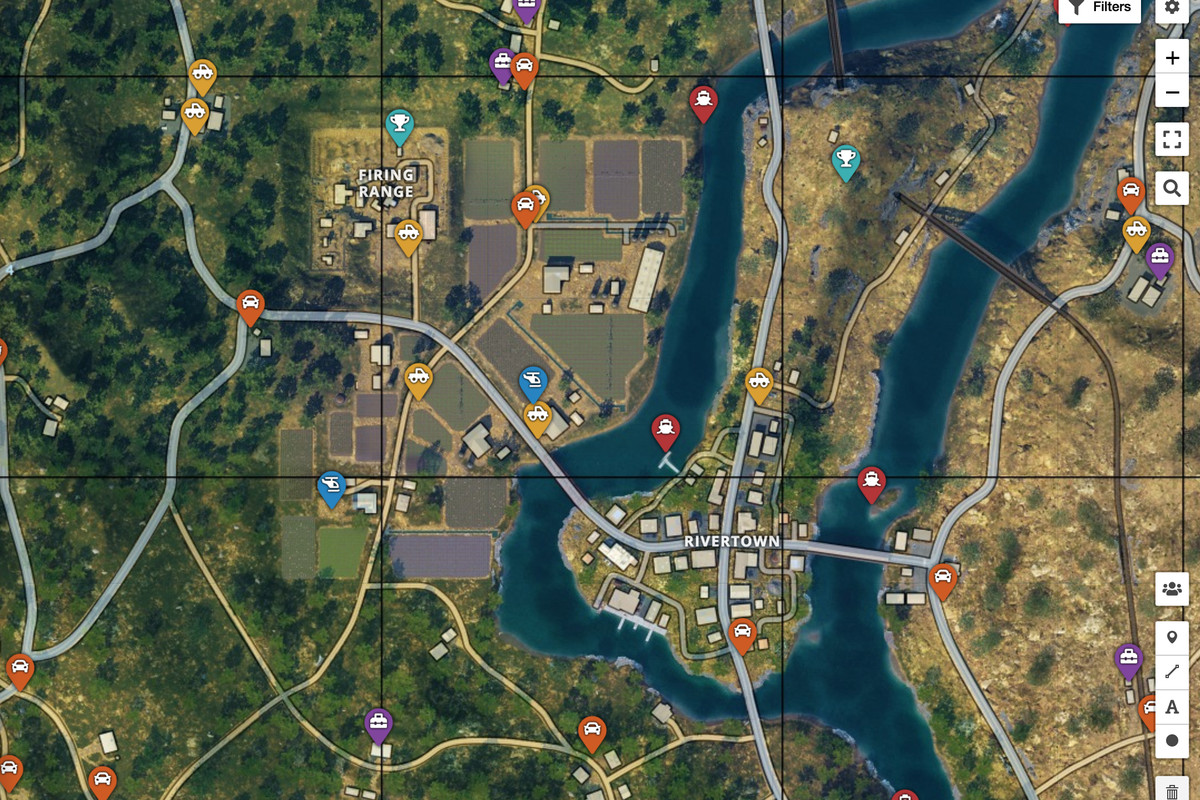 Online map for Black Ops 4's Blackout mode marks loot and vehicle