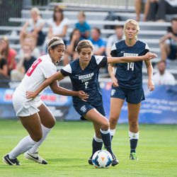 BYU women's soccer player married former Cougar outfielder Andy Isom in 2014.