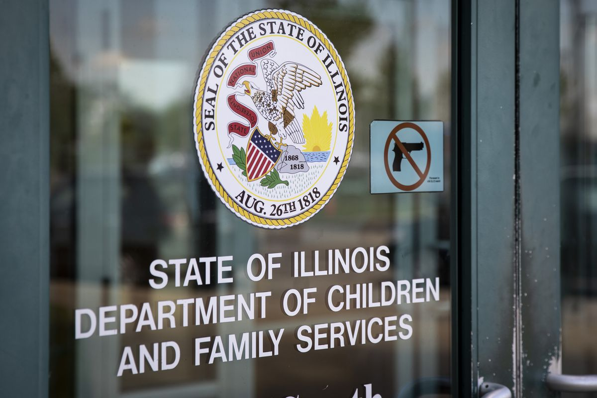 A Chicago office of the Illinois Department of Children and Family Services.