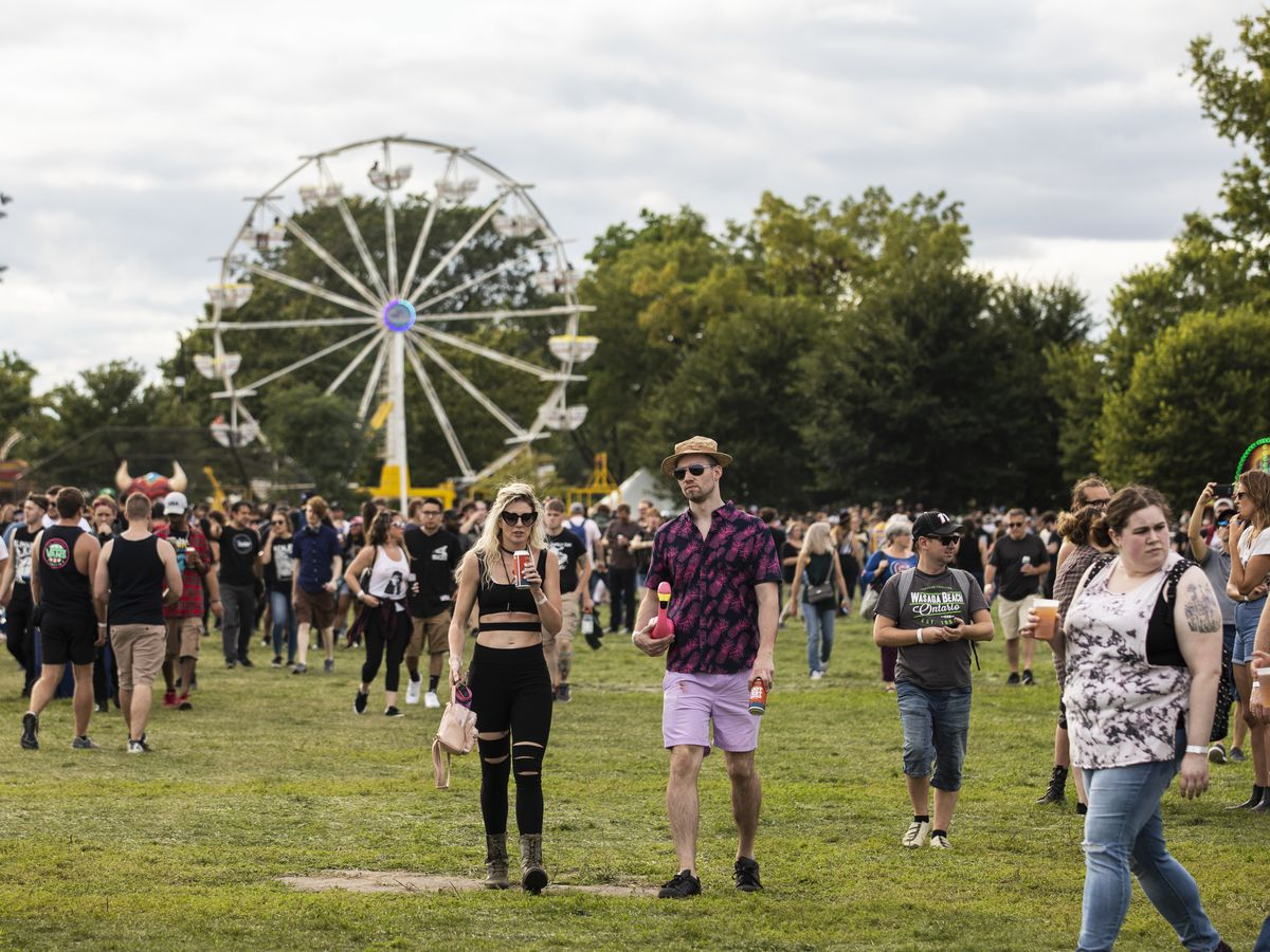 Festival-goers flock to Douglas Park for day one of Riot Fest, Friday afternoon, Sept. 13, 2019.