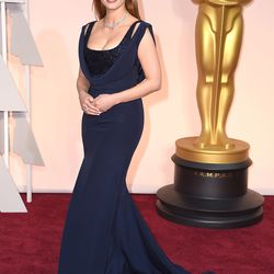 Jessica Chastain in a Givenchy dress with a Piaget necklace