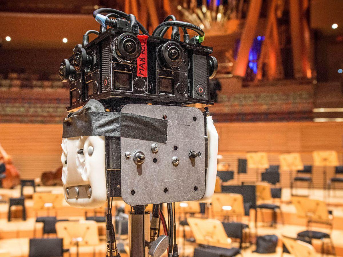 Secret Location's VR camera, on location in the Walt Disney Concert Hall