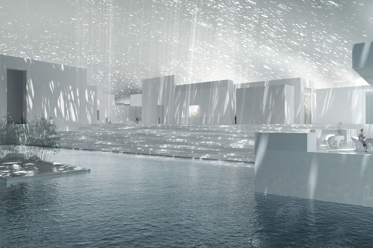 The interior of the Jean Nouvel-designed Louvre Abu Dhabi, set to open later this year