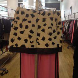 Graphic skirt (sample), $50