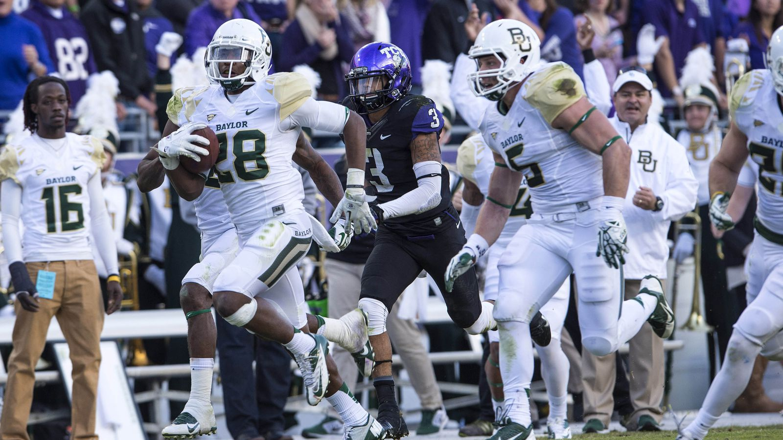 Baylor vs  TCU results: Bears hang on for 41-38 win over