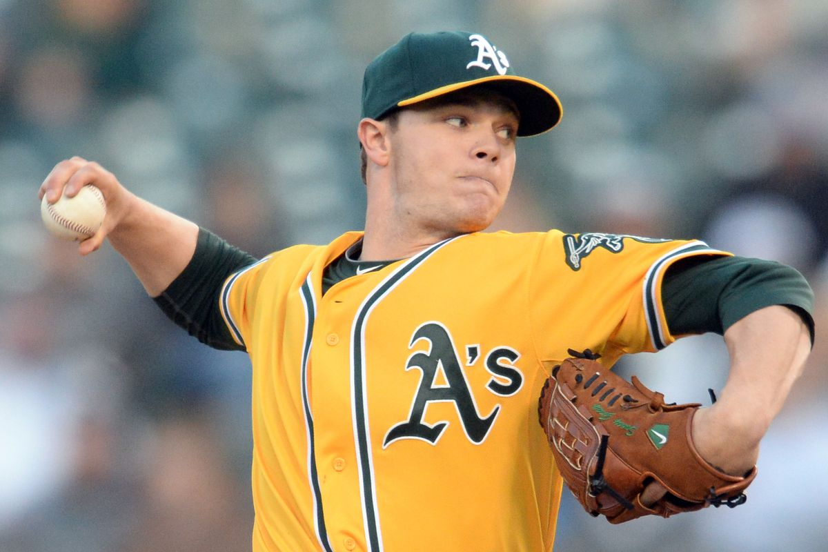 Oakland Athletics' starting pitcher Sonny Gray (54) delivers in the second inning of their baseball game against the Detroit Tigers held at O.co Coliseum in Oakland, Calif., on Tuesday, May 27, 2014. (Doug Duran/Bay Area News Group)