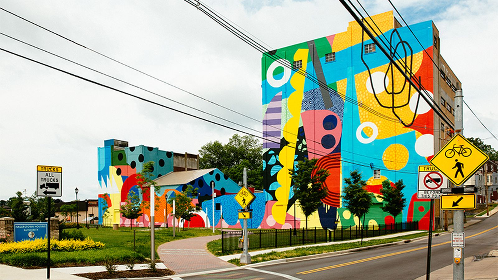Colorful 'mega mural' revives industrial space in Maryland ...