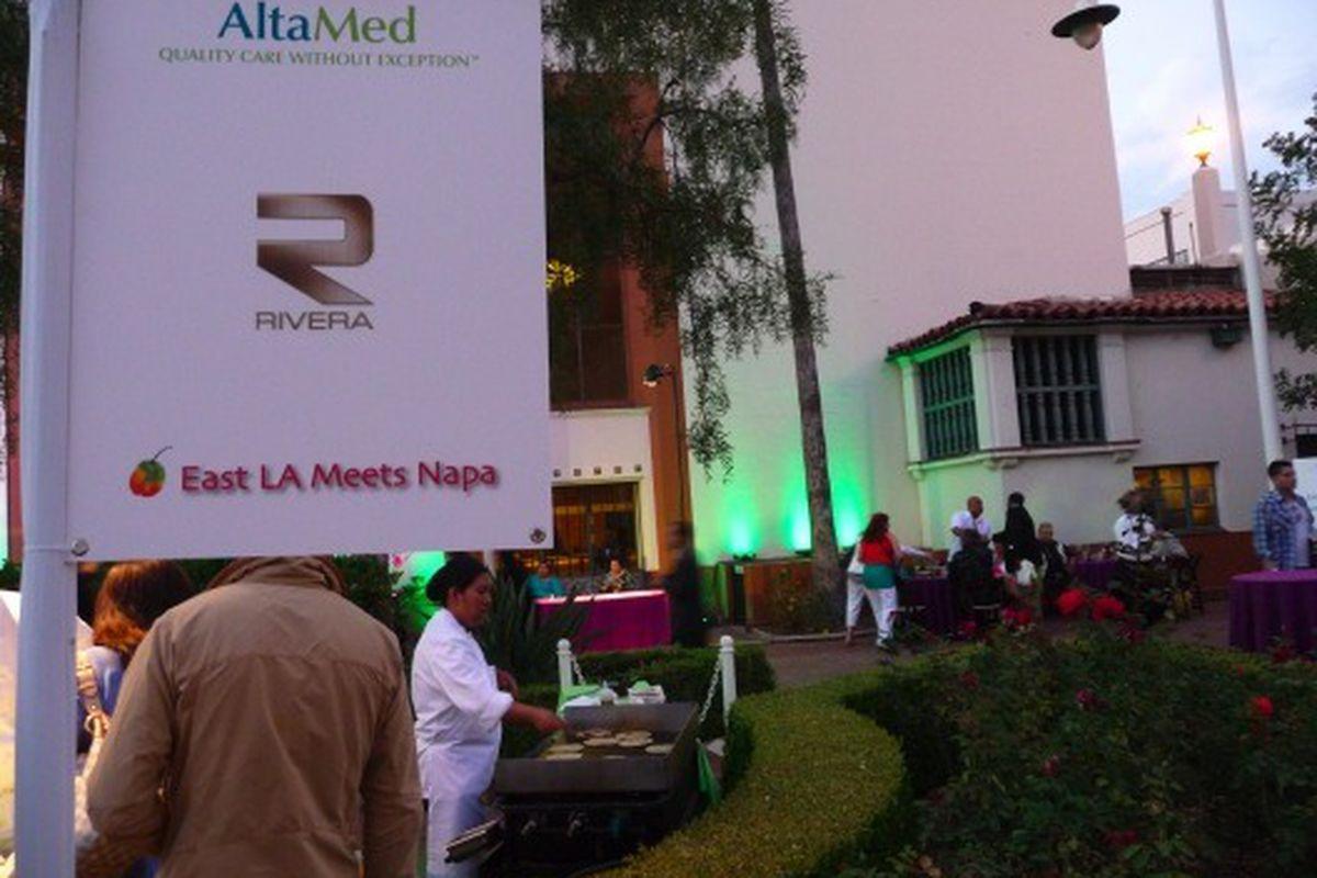 Fresh tortillas from Rivera at Friday's East LA Meets Napa fundraiser.