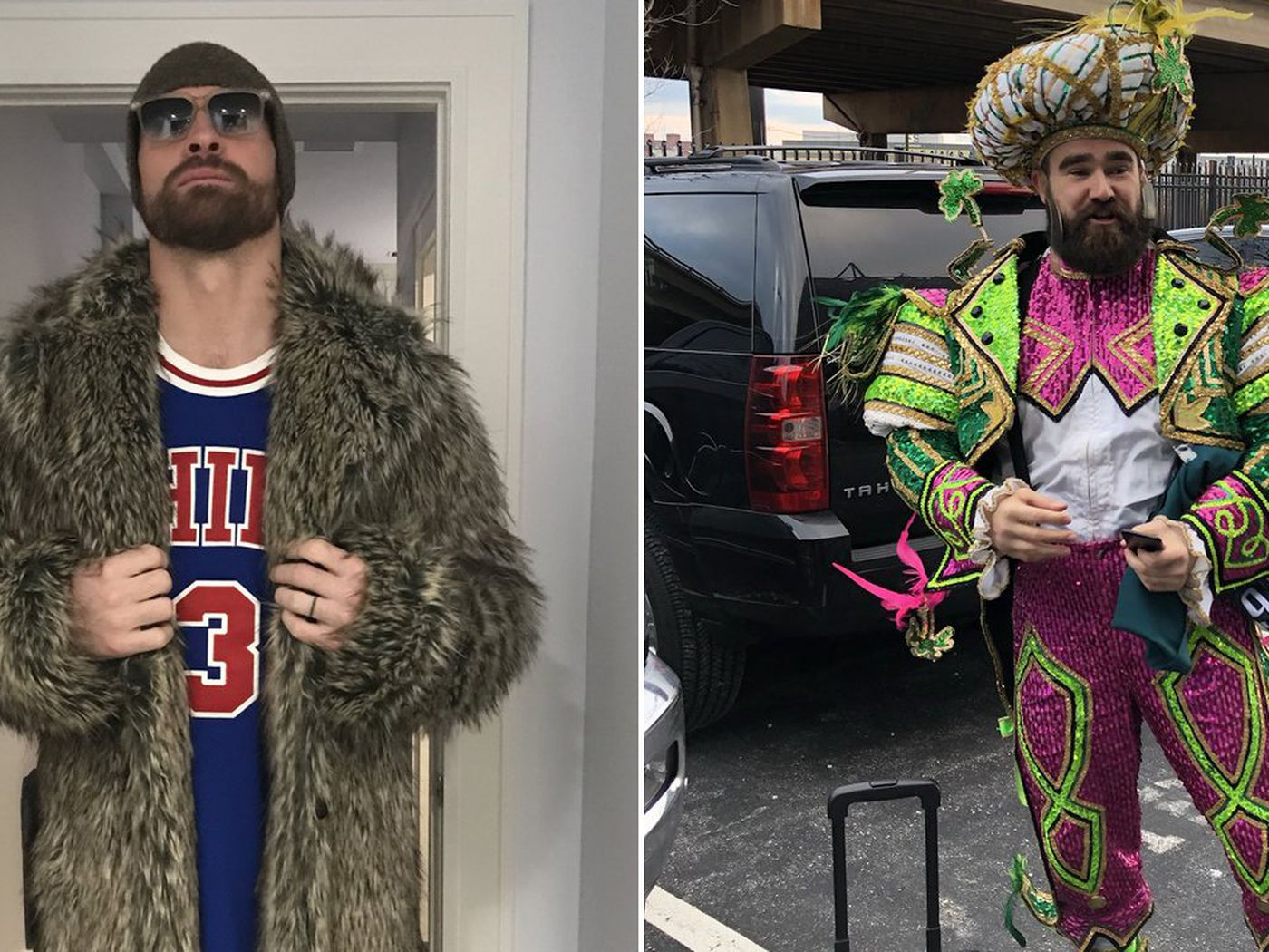 new products ecff6 af725 Chris Long and Jason Kelce have the best outfits for the ...