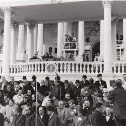 In 1965, the Mormon Tabernacle Choir sang for President Lyndon B. Johnson's inauguration.