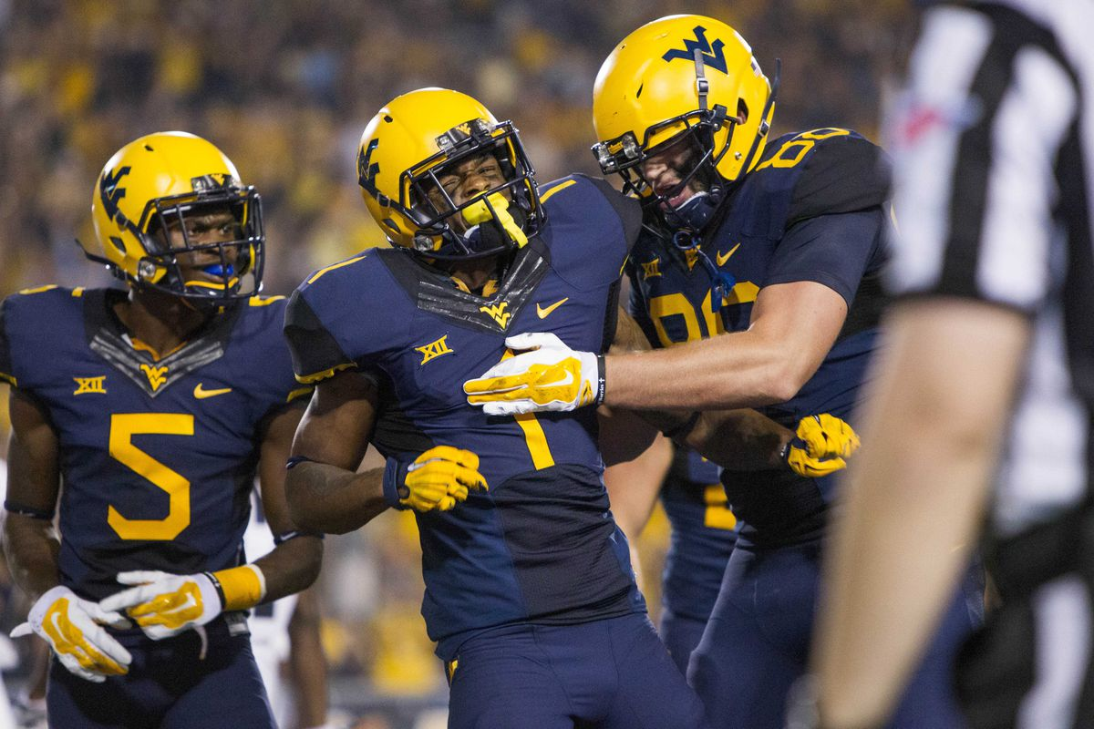 Shelton Gibson after his first career touchdown catch