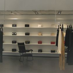 Your first look inside! Minimal, light, emphasis on bags and accessories.