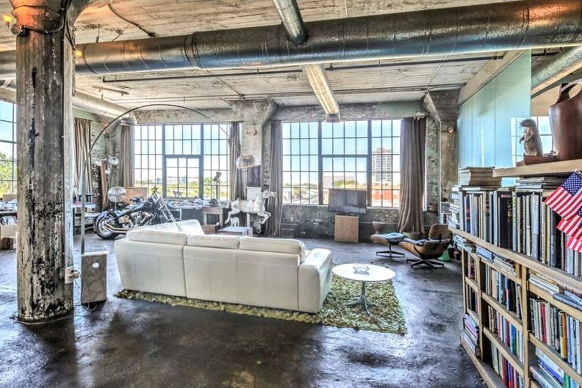 A photo of a downtown Atlanta loft for sale right now.